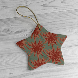 Flower Power Ornament - Coral