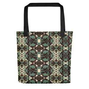 Damask and Receive Tote Bag – Brown/Sage