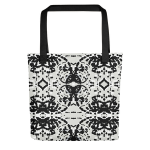 Black and White Particles Tote Bag