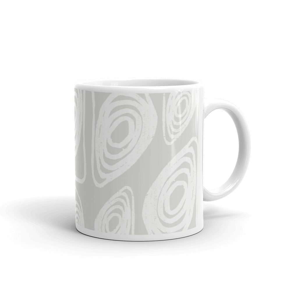 White on White Abstract Coffee Mug