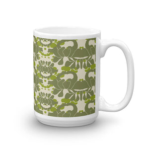 Green Iris Coffee Mug