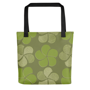 Green Floral Tote Bag