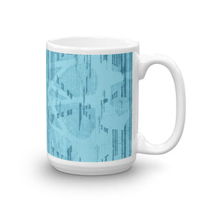 Batik Tock Coffee Mug - Monochrome