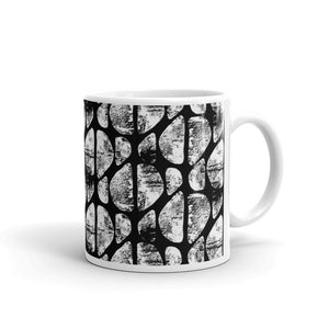 Black and White Abstract Coffee Mug