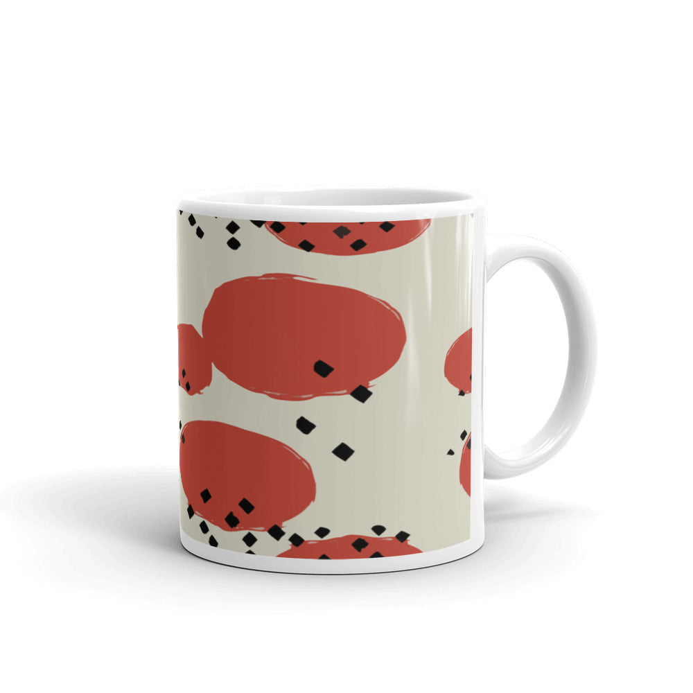 Orange Retro Geometric Coffee Mug