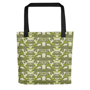 Green Iris Tote Bag