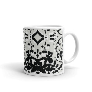 Black and White Particles Coffee Mug