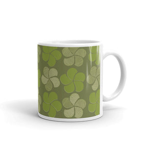 Green on Green Floral Coffee Mug