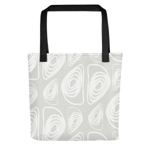 White on White Abstract Tote Bag