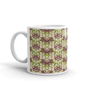 Modern Floral Chevron Coffee Mug