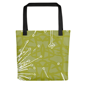 Flower Power Tote Bag – Chartreuse
