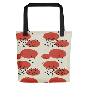 Orange Retro Geometric Tote Bag