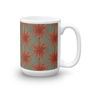 Flower Power Coffee Mug – Coral