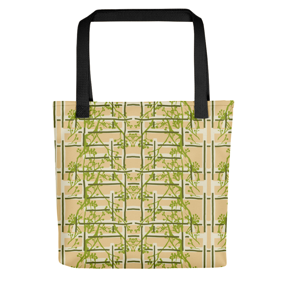 Tea Garden Floral Tote Bag