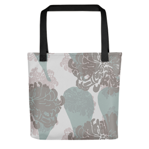 Chrysanthemums and Paisley Tote Bag