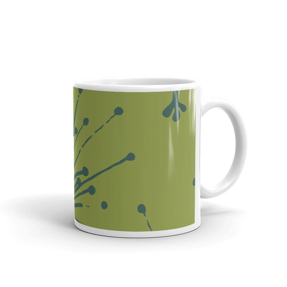 Flower Power Coffee Mug – Teal