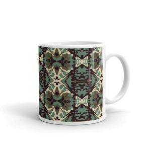 Damask and Receive Coffee Mug – Brown/Sage