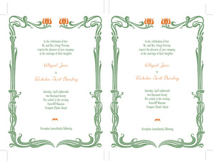 Nouveau DIY Wedding Invitation Suite