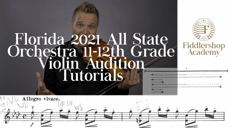 Florida 2021 All State Orchestra 11-12th Grade Violin Tutorials