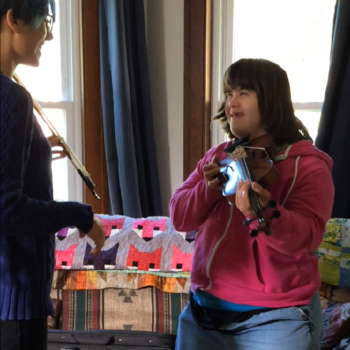 Fiddlershop's Music is for Everyone Blog Series: Rebecca Richardson and Audrey, adult violin learners
