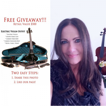 Giveaway Winner Uses Electric Violin Outfit for a Good Cause