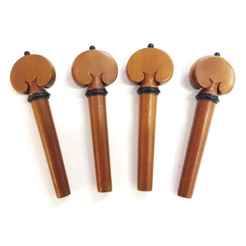 Violin Heart Shaped Pegs - Boxwood