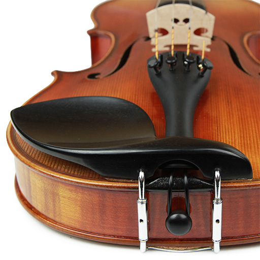 Guarneri Model Violin Chinrest - Silver Hardware