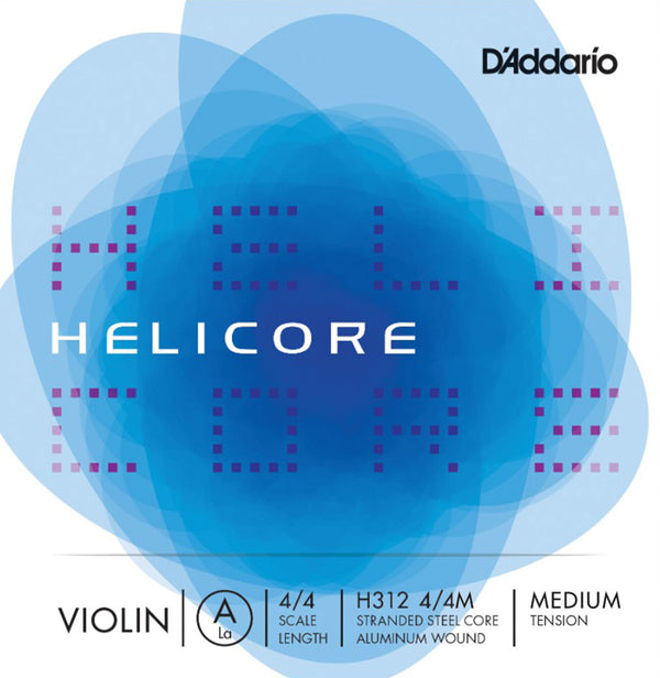 D'Addario Helicore Violin Single A String Aluminum Wound