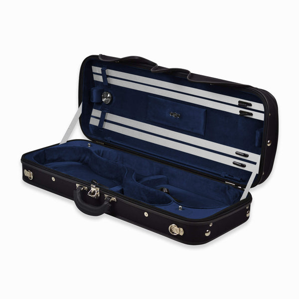Negri Milano Leather Wooden Double Violin Case