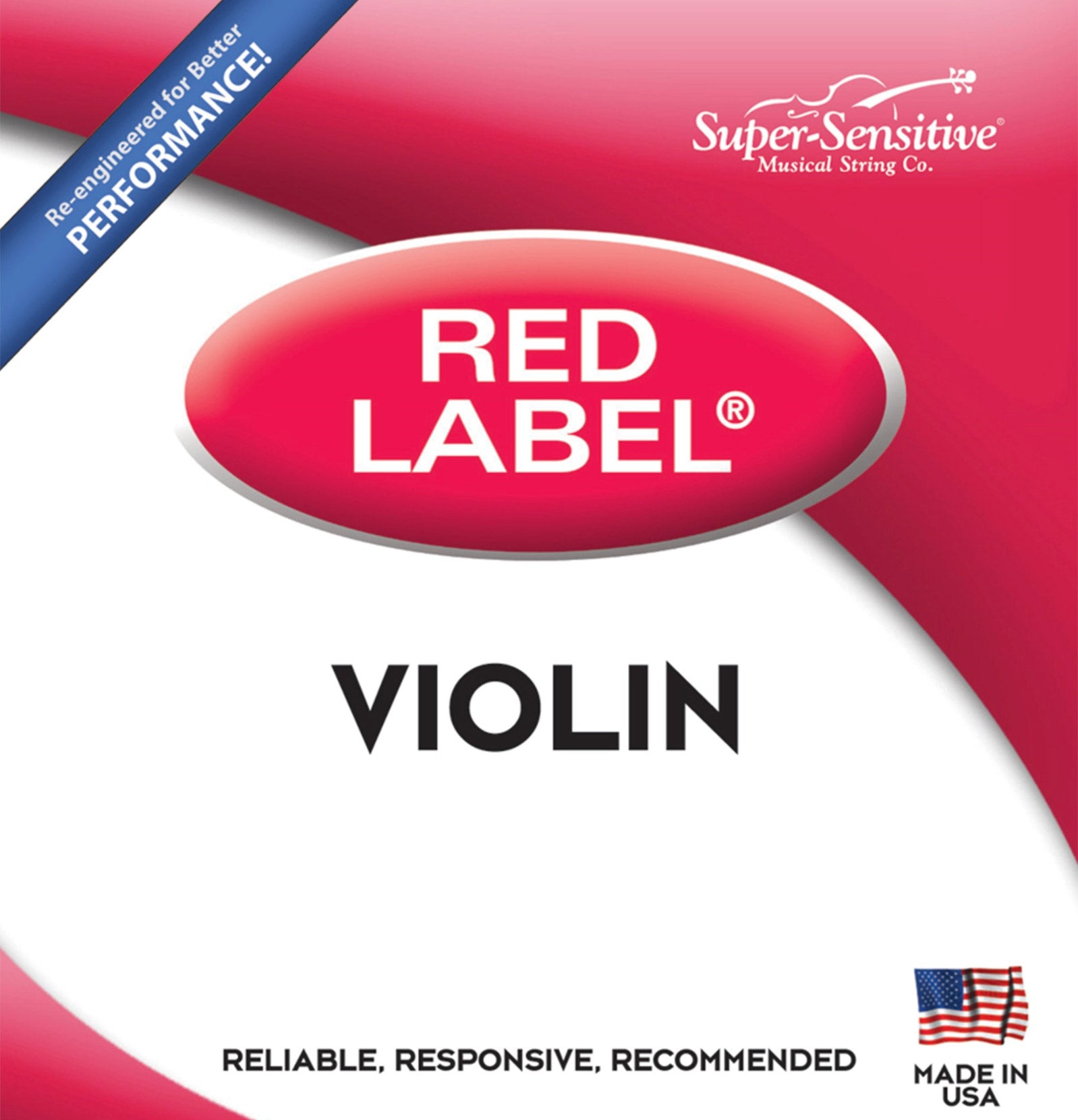 Red Label Violin E* String Stainless Steel