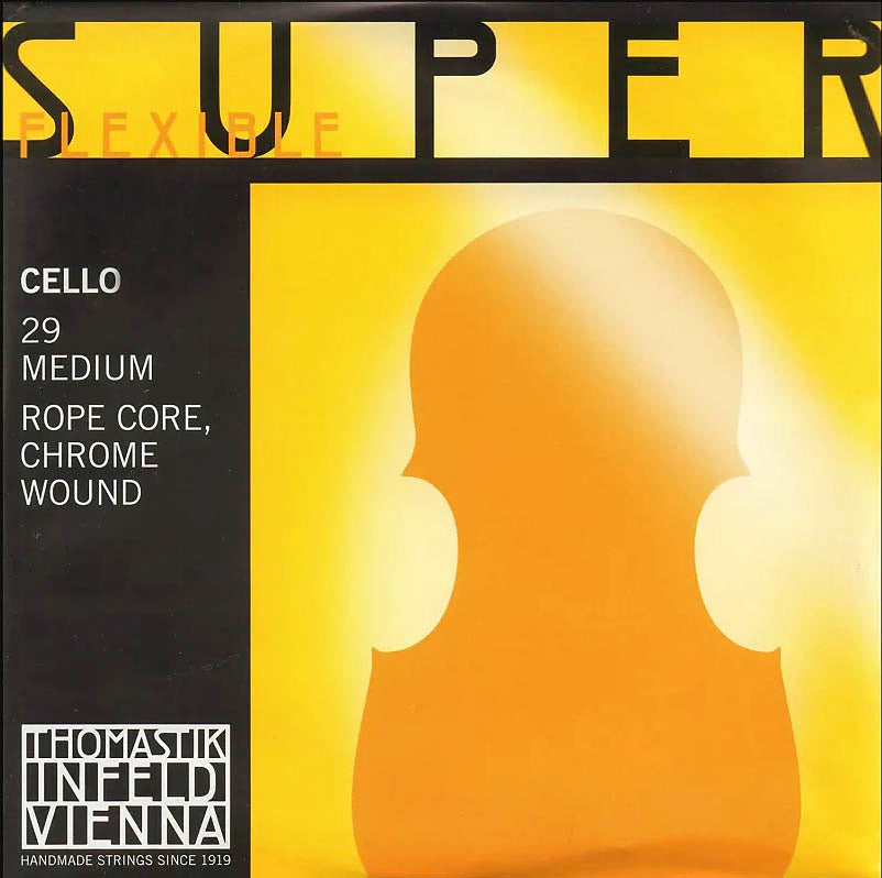 Superflexible Ropecore Cello D String Chrome Wound