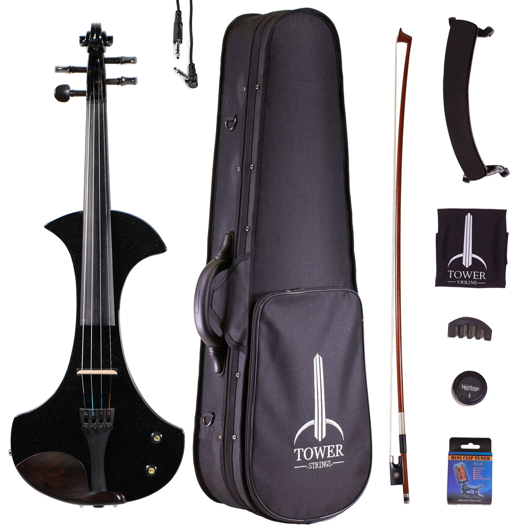 Tower Strings Electric Pro Violin Outfit