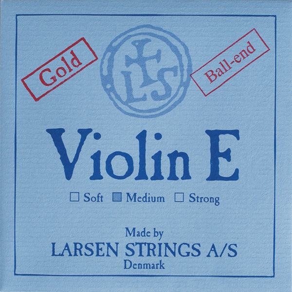 Larsen Original Violin String Set - Gold E & Silver D