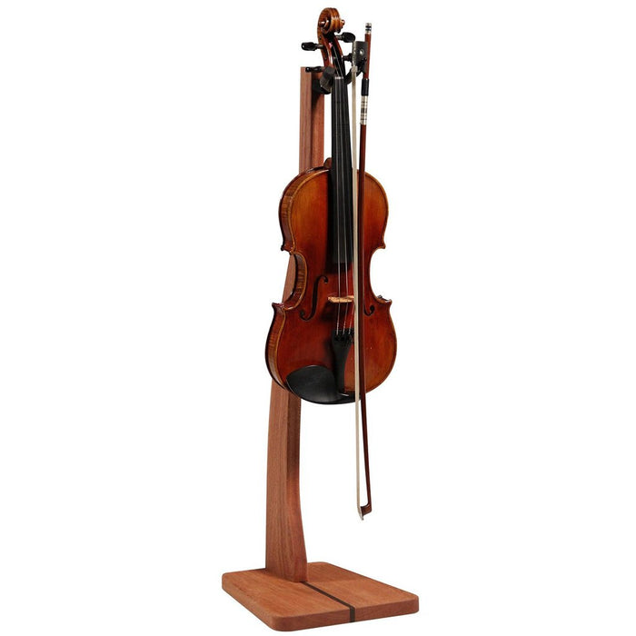 Handcrafted Solid Wood Violin/Viola Stand with Bow Holder