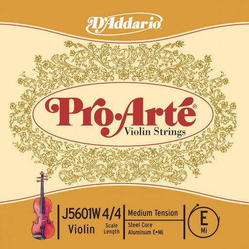 D'Addario Pro-Arte Violin Single Aluminum Wound E String