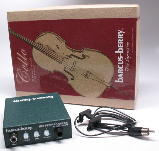 Barcus Berry Cello Pickup with Preamp 3125