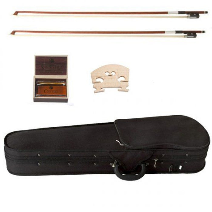 Cecilio Ebony Fitted German Type Left-Handed Violin CVN-320L