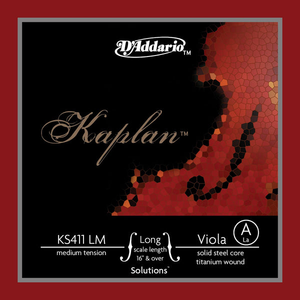 D'Addario Kaplan Solutions Viola Single A String