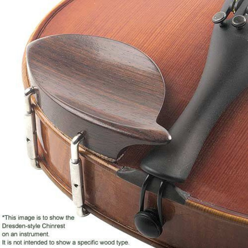 Boxwood  Violin Chinrest 4//4 Dresden Style