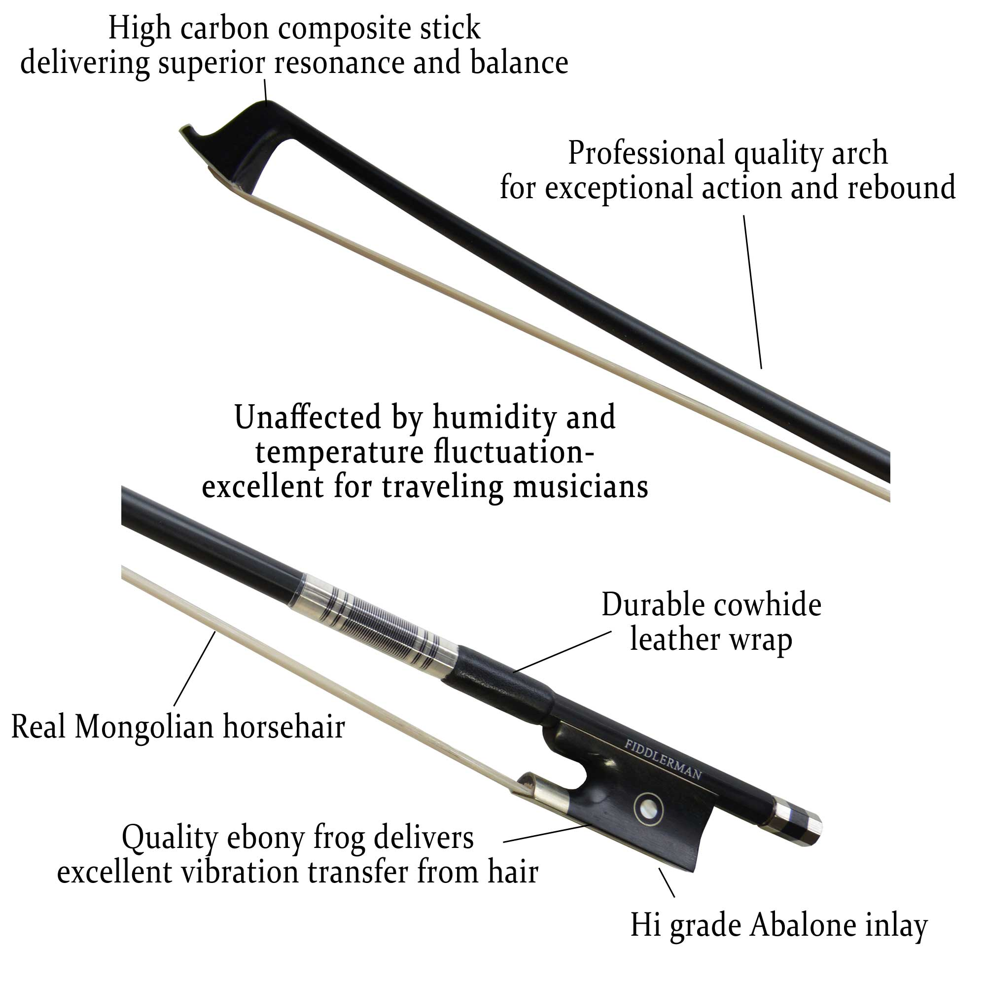 Fiddlerman Carbon Fiber Violin Bow