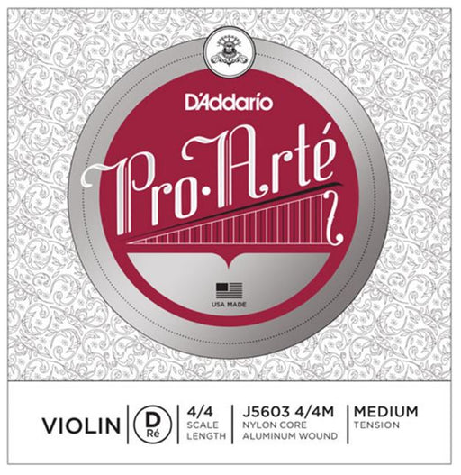 D'Addario Pro-Arte Violin Single Silver Wound D String