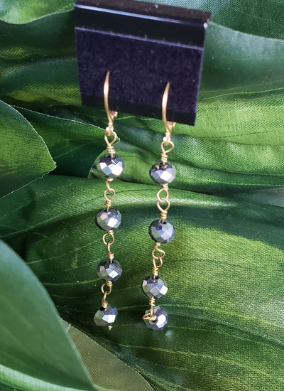 Beaded GemCord Earrings