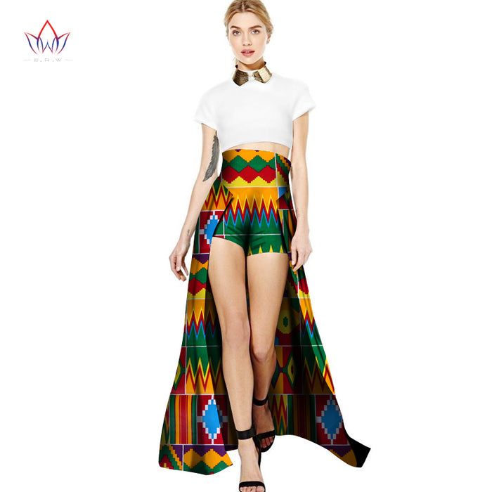 2019 Africa Style High waist shorts Dashiki Trailing shorts African Clothing for Girl Bazin Sexy  Clothes for party afcol134