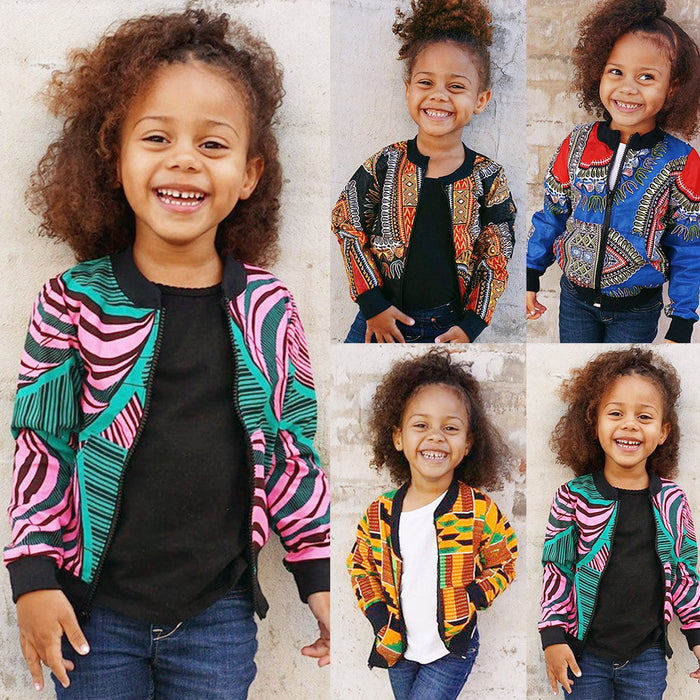 2019 African Style Clothing baby girl clothes Winter Autumn Full Sleeve Baby Girl Winter Cloth Cotton Kids Jackets for Girls