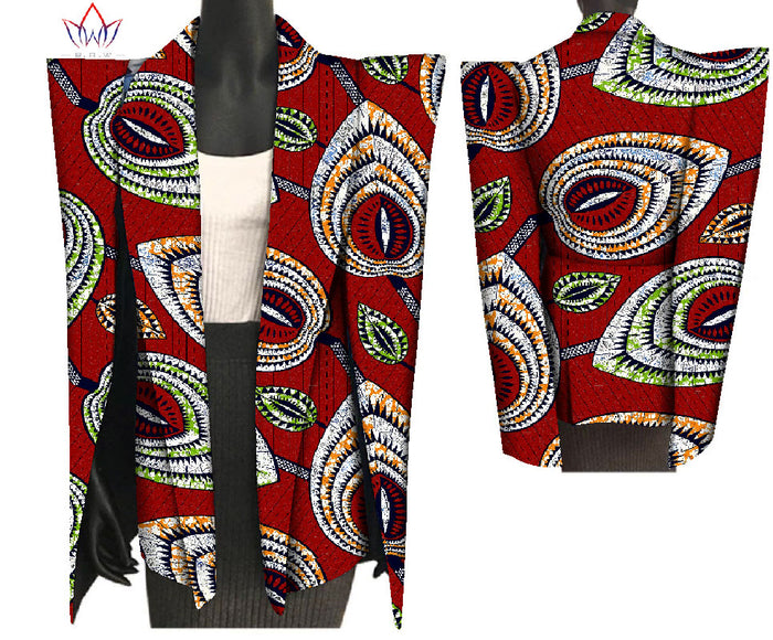 2019 New African Print Wax Coat Dashiki Blazer Plus Size 6xl Africa Style Clothing for Women Crop Top Casual Coat afcol148 - African Clothing Online