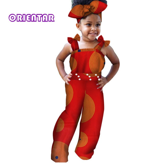African Clothes For Children Baby Girls Long Jumpsuit African Print Ba African Clothing Online