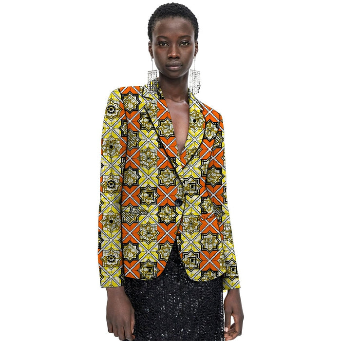 African Fashion women's blazers fashion street style coat dashiki custom Ankara suit jacket for ladies wedding outfit - African Clothing Online