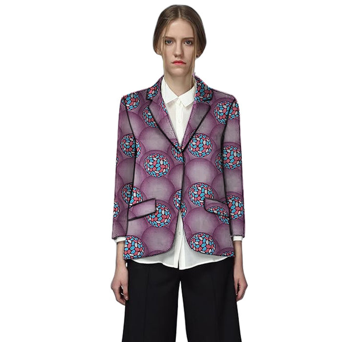 African clothes women's print blazers dashiki Ankara patterns fashion suit jackets custom made street wear formal outfit - African Clothing Online