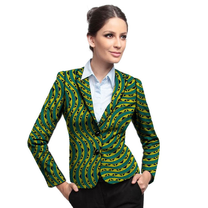 African fashion women blazers slim fit elegant dashiki clothes for ladies blazer coat business style suit jacket Africa clothing - African Clothing Online