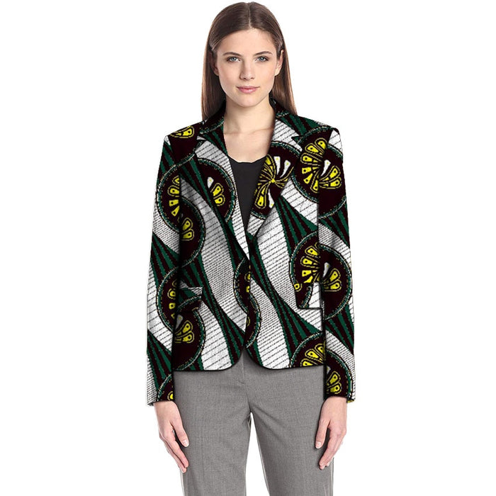 African print women blazers Ankara suit jacket dashiki coat custom made for ladies African outfit - African Clothing Online